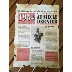 LE JOURNAL DE L'ANNÉE DE MA NAISSANCE (A4)